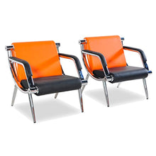 Load image into Gallery viewer, 2 Pcs PU Leather Office Reception Chair Executive Side Waiting Room - EK CHIC HOME