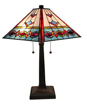 Load image into Gallery viewer, Tiffany Style Multi-Color Mission Table Lamp 22 Inches Tall - EK CHIC HOME