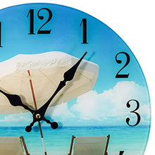 Load image into Gallery viewer, Beach Chair Glass Wall Clock New-13-X-13 - EK CHIC HOME