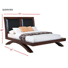 Load image into Gallery viewer, Cardinal Platform Bed with Upholstered Headboard, Queen, Savory Espresso - EK CHIC HOME
