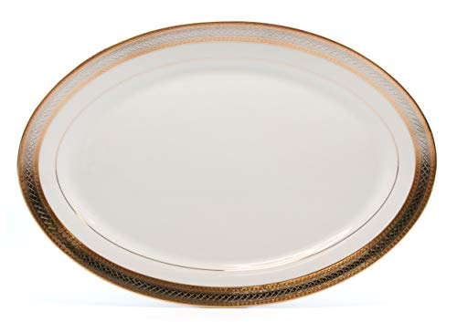 148461c24e67 ... Load image into Gallery viewer, Royalty Porcelain Silver and Gold 49-pc  Dinnerware Set ...