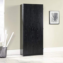 "Load image into Gallery viewer, Storage Cabinet, L: 29.61"" x W: 16.02"" x H: 71.50"", Ebony Ash finish - EK CHIC HOME"