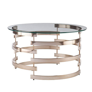 Belmar Cocktail Table, Champagne Finish - EK CHIC HOME
