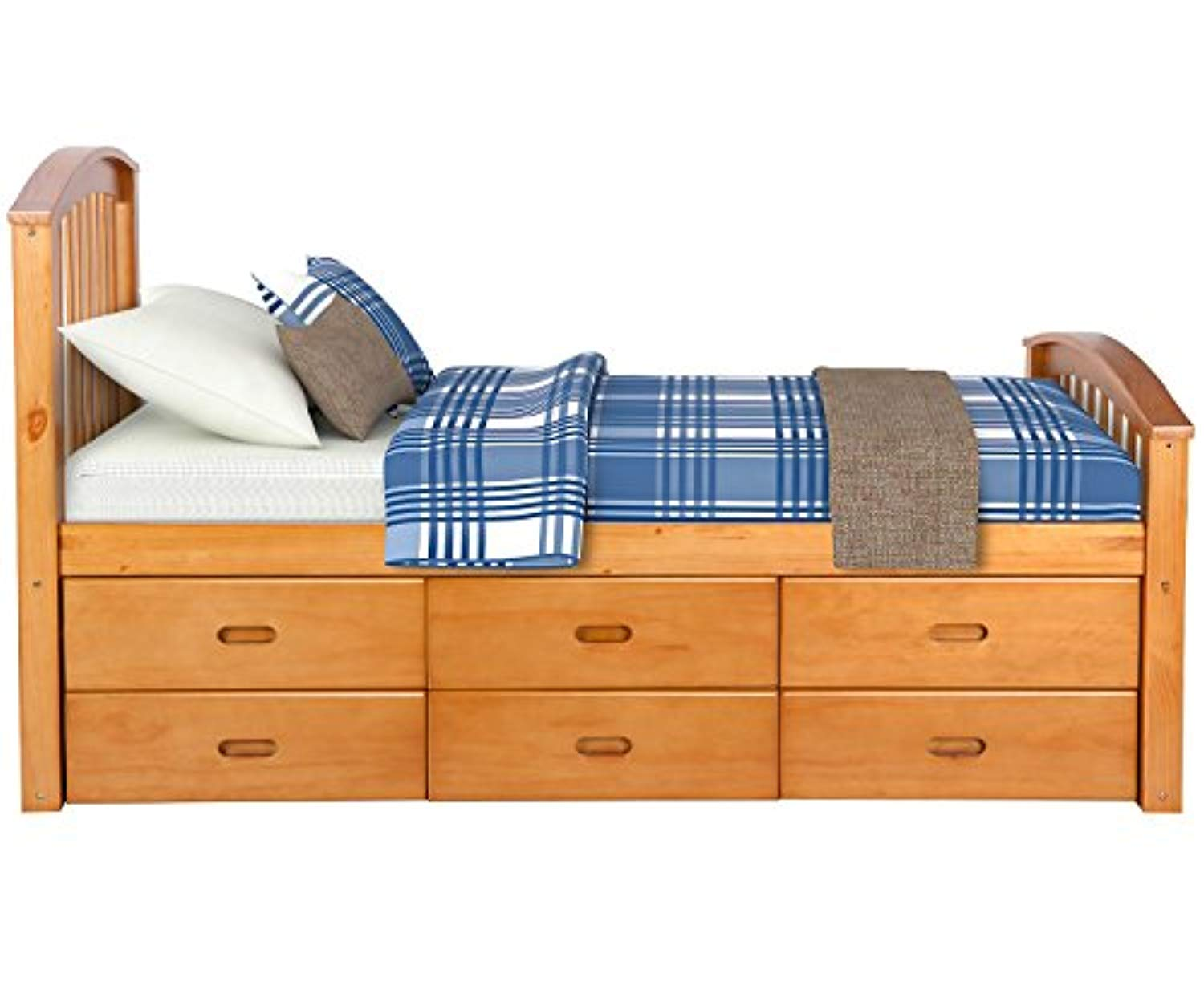 Picture of: Twin Size Platform Storage Bed Solid Wood Bed With 6 Drawers Natural Ek Chic Home