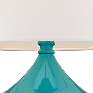 "Steel Droplet 14 3/4""H Teal Blue Small Accent Lamps Set of 2 - EK CHIC HOME"