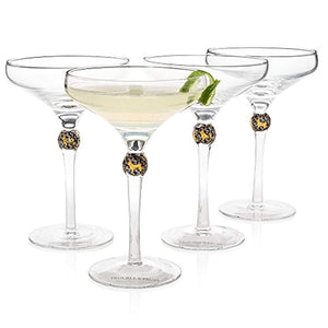 """New York's Most Exquisite"" Cocktail Glass (Gift Box Set of 4) - EK CHIC HOME"