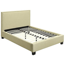 Load image into Gallery viewer, Tavel Nail Head Platform Bed - EK CHIC HOME