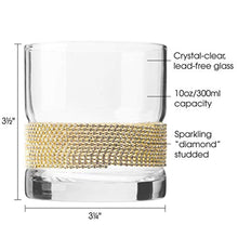 "Load image into Gallery viewer, Set of 6 Elegant Glasses with Sparkling""Diamond"" Studded Design - EK CHIC HOME"
