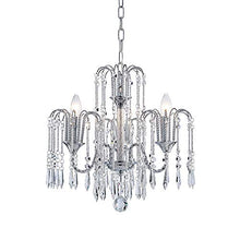 Load image into Gallery viewer, Classic Elegent Crystal Candle Candelabra Chandelier 3 Light ChromeDia 16 in x H 17 in - EK CHIC HOME