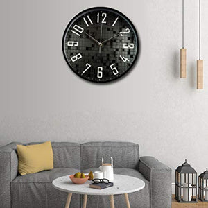 Silent 3D Non Ticking Wall Clock | Decorative Round Wall Clock | - EK CHIC HOME