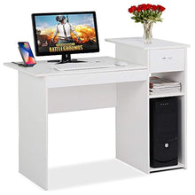 Load image into Gallery viewer, White Computer Desk with Drawers for Home Office - EK CHIC HOME