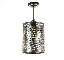 Load image into Gallery viewer, 1-Light Black Finish Metal Shade Hanging Pendant Ceiling Lamp Fixture - EK CHIC HOME