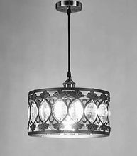 Load image into Gallery viewer, 1-Light Antique Black Finish Modern Crystal Chandelier - EK CHIC HOME
