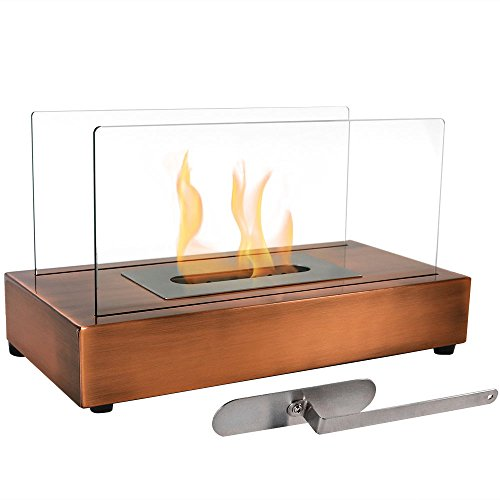 Sunnydaze Copper Tabletop Bio Ethanol Fireplace - EK CHIC HOME