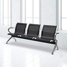 Load image into Gallery viewer, Waiting Room Chair with Arms 3-Seat Reception Bench for Business - EK CHIC HOME