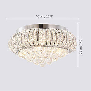 LED Modern Chandelier Crystals Pendant Flush Mount Ceiling Light - EK CHIC HOME