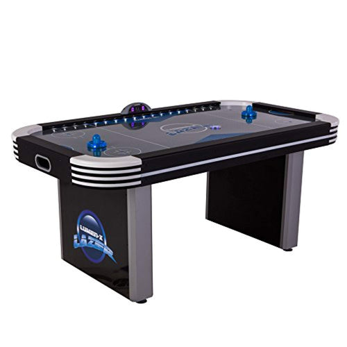 Lazer 6' Interactive Air Hockey Table Featuring All-Rail LED Lighting and In-Game Music - EK CHIC HOME