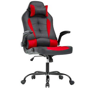 Office Desk Gaming Chair High Back with Lumbar Support Adjust Armrest (Racing Style Chair) - EK CHIC HOME