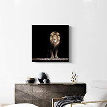Load image into Gallery viewer, Premium Black Canvas Print King of The Jungle - EK CHIC HOME