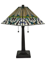 Load image into Gallery viewer, Tiffany Multi-Color Mission Table Lamp 22 Inches Tall - EK CHIC HOME