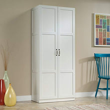 "Load image into Gallery viewer, Storage Cabinet, L: 29.61"" x W: 16.02"" x H: 71.50"", Soft White finish - EK CHIC HOME"