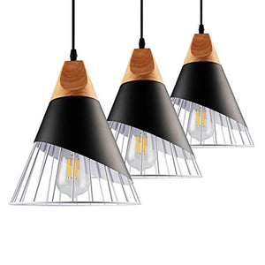 Pendant Metal Cage,Nordic Modern Iron Style Pendant Lights Fixture(3 Kits) - EK CHIC HOME