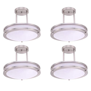 "12"" (4 Pack) LED Semi Flush Mount Ceiling Light, Dimmable - EK CHIC HOME"