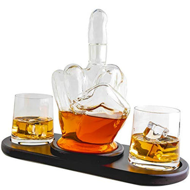 Middle Finger Novelty Whisky Decanter Set - EK CHIC HOME