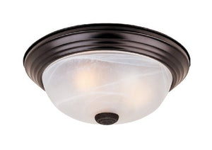 "Flushmount Ceiling Light Oil Rubbed Bronze 3 Light 15"" Fixture - EK CHIC HOME"