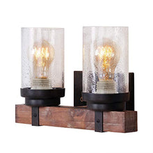 Load image into Gallery viewer, ART DECO Wooden 2 Light Wall Sconce, Brown - EK CHIC HOME