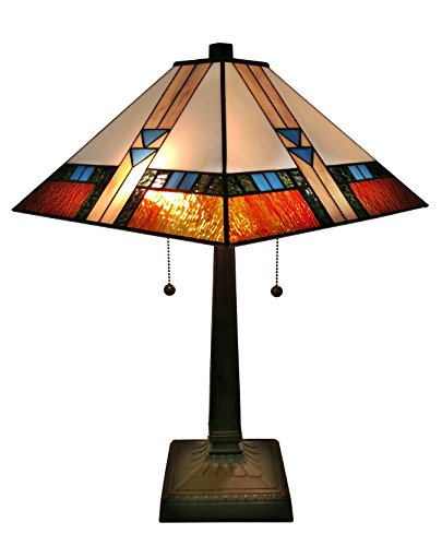 Tiffany Mission Table Lamp 23 Inches Tall - EK CHIC HOME
