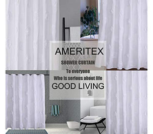 "Ameritex Ruffle Shower Curtain Home Decor | Soft Polyester 72"" x 72"" - EK CHIC HOME"