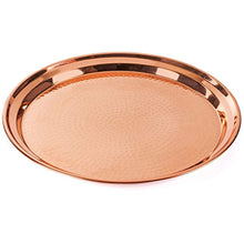 Load image into Gallery viewer, Copper Tray - 2 Pack - Large Tray 15 inch, Medium Tray 13 Inch - EK CHIC HOME