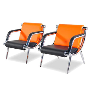 2 Pcs PU Leather Office Reception Chair Executive Side Waiting Room - EK CHIC HOME