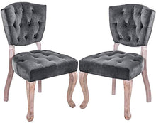 Load image into Gallery viewer, Upholstered Dining Chairs Set of 2 - Parsons Accent Chair with Wood Legs - EK CHIC HOME