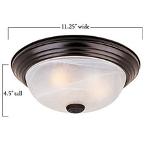 "Load image into Gallery viewer, 11"" Decorative Small Flushmount Oil Rubbed Bronze - Led Household Light Bulbs - EK CHIC HOME"