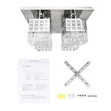 Load image into Gallery viewer, Crystal Flush Mount Ceiling Light Fixture Square Modern Chandelier - EK CHIC HOME