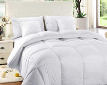 Load image into Gallery viewer, Quilted Comforter with Corner Tabs - Hypoallergenic-Queen - EK CHIC HOME
