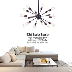 Oil Rubbed Bronze 18 Light Modern Pendant Ceiling Light - EK CHIC HOME