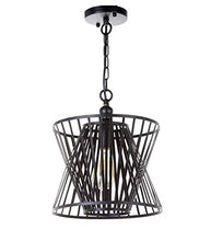 Load image into Gallery viewer, 1-Light Antique Black Metal Shade Chandelier - EK CHIC HOME