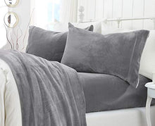 Load image into Gallery viewer, Extra Soft Velvet Plush Sheet Set with Deep Pockets (Queen, Grey) - EK CHIC HOME