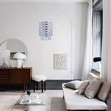 Load image into Gallery viewer, Plug in Modern Crystal Chandelier Swag Pendant Light with Clear 16.4' Cord - EK CHIC HOME