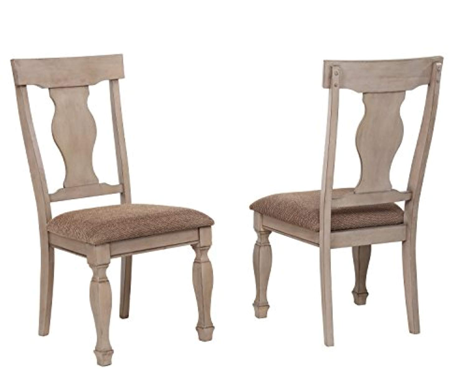 Fine Almon 2 Tone Brown Wood 6 Piece Dining Room Set Table Squirreltailoven Fun Painted Chair Ideas Images Squirreltailovenorg