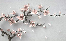 Load image into Gallery viewer, 3D Embossed Floral Wallpaper Magnolia Blossom Wall Art - EK CHIC HOME