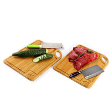 Load image into Gallery viewer, 2 PCS Bamboo Cheese/Cutting Board Set - EK CHIC HOME