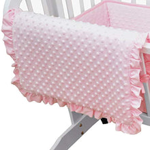 Load image into Gallery viewer, Heavenly Soft Minky Dot 3-Piece Cradle Bedding Set - EK CHIC HOME