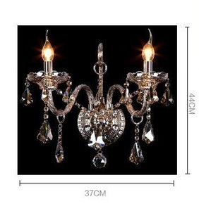 Generic Crystals 2-light Wall Sconces Color Cognac - EK CHIC HOME