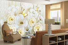 Load image into Gallery viewer, Floral Wallpaper Yellow Magnolia Oil Painting Flower Wall Print Butterfly Wall Art Nordic - EK CHIC HOME