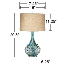 Load image into Gallery viewer, Euro Kenya Blue-Green Ceramic Table Lamp - EK CHIC HOME
