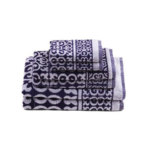 6-Piece 100% Cotton Bath Towel Set, Silver - EK CHIC HOME